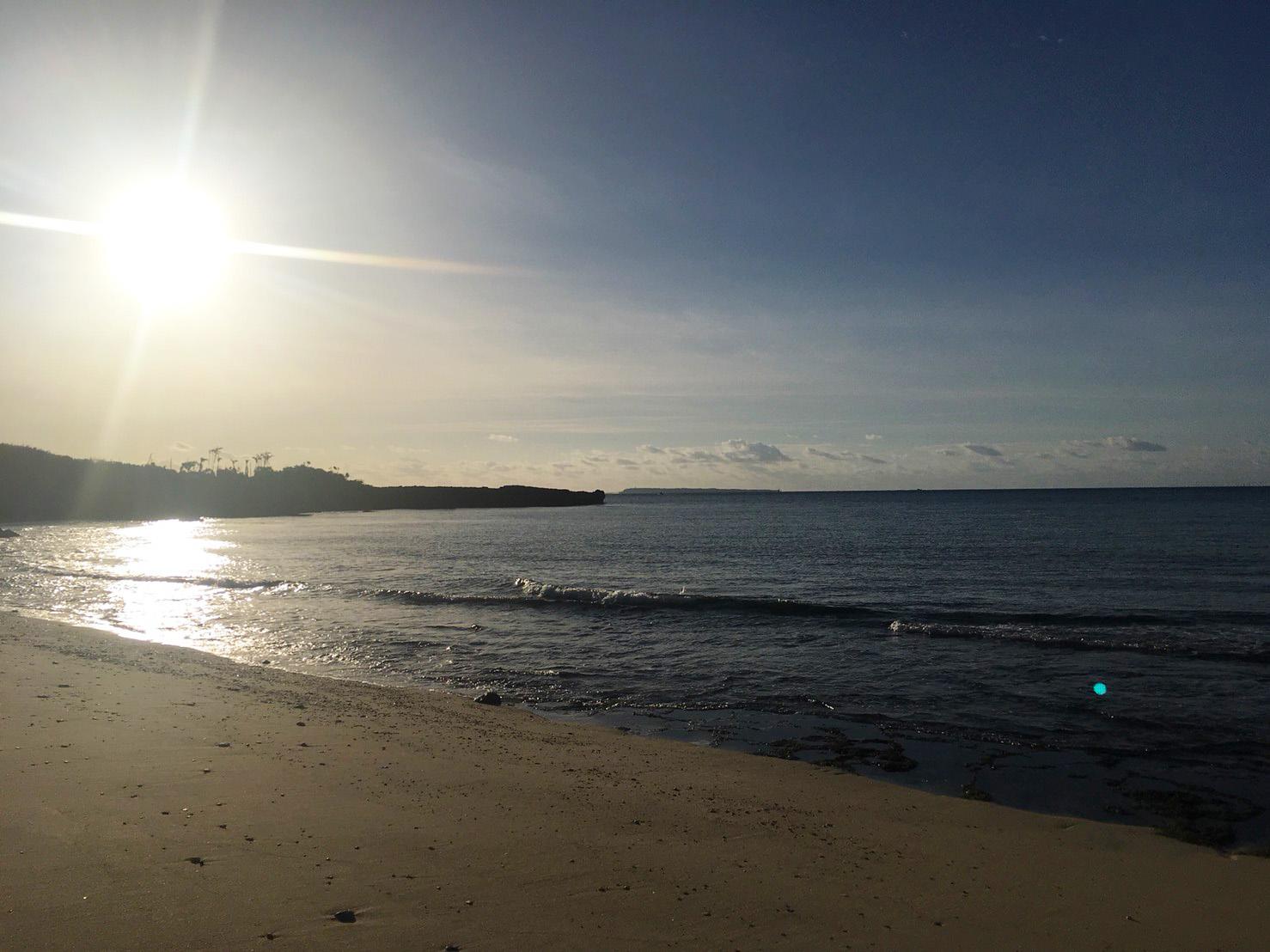 プライベートビーチから眺めるサンセット1
