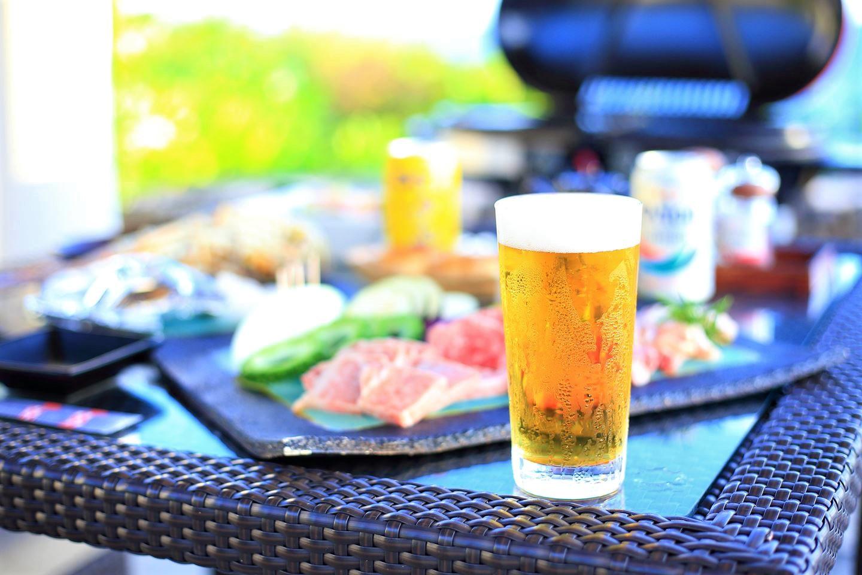 バーベキューにはオリオン生ビールのほか、各種ワインもご用意がございます